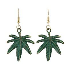 preiswerte Ohrringe-Damen Tropfen-Ohrringe - Blattform, Kokosnussbaum Einfach, Grundlegend Grün Für Alltag / Verabredung