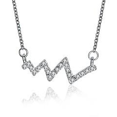 abordables Collares-Mujer Forma Geométrica Vintage Casual Dulce Encantador Collares con colgantes Zirconia Cúbica Cobre Collares con colgantes , Boda