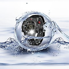preiswerte Digitaluhren-Herrn / Paar Sportuhr Chinesisch Bluetooth / Kalender / Wasserdicht Silikon Band Luxus / Freizeit / Modisch Schwarz / Schrittzähler / Stopuhr