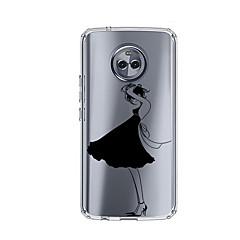 olcso Motorola tokok-Case Kompatibilitás Motorola E4 Plus Minta Fekete tok Szexi lány Puha TPU mert Moto X4 Moto E4 Plus Moto E4