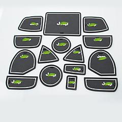 abordables Cojines y Mantas-Automotor Groove Mat Esterillas de interior para coche Para Jeep 2011 2012 2013 Grand Cherokee