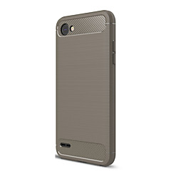 Недорогие Чехлы и кейсы для LG-Кейс для Назначение LG V30 Q6 Ультратонкий Сплошной цвет Мягкий для