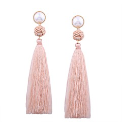 preiswerte Ohrringe-Damen Quaste Tropfen-Ohrringe - Perle Quaste Grün / Rosa / Dunkelrot Für Geschenk / Alltag