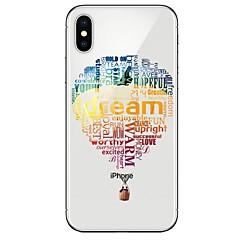 Недорогие Кейсы для iPhone-Кейс для Назначение Apple iPhone X iPhone 8 Ультратонкий С узором Кейс на заднюю панель Воздушные шары Мягкий ТПУ для iPhone X iPhone 8