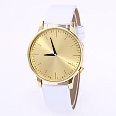 preiswerte Herrenuhren-Herrn Damen Modeuhr Armbanduhr Quartz Schwarz / Weiß Armbanduhren für den Alltag Analog Modisch - Goldenschwarz Gold / Weiß Schwarz / Silber