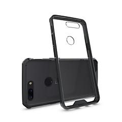 お買い得  その他のケース-ケース 用途 OnePlus OnePlus 5T 5 耐衝撃 クリア バックカバー 純色 鎧 ハード アクリル のために One Plus 5 OnePlus 5T One Plus 3 One Plus 3T