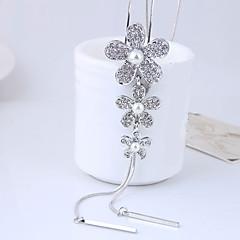 preiswerte Halsketten-Damen Quaste Lang Anhängerketten - Künstliche Perle Blume Europäisch, Elegant Silber Modische Halsketten Schmuck Für Party