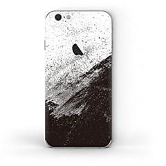 abordables Adhesivos Skin para iPhone-1 pieza Adhesivo para Anti-Arañazos Negro y Blanco Diseño PVC iPhone 6s/6