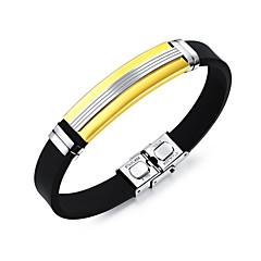 preiswerte Armbänder-Herrn Armreife / ID Armband - Edelstahl Modisch Armbänder Gold / Schwarz / Silber Für Alltag / Ausgehen