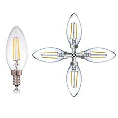 preiswerte LED-Birnen-5 Stück 2W 180LM E14 LED Glühlampen C35 2 LED-Perlen COB Abblendbar / LED-Lampe / Dekorativ Warmes Weiß / Kühles Weiß 220-240V / RoHs