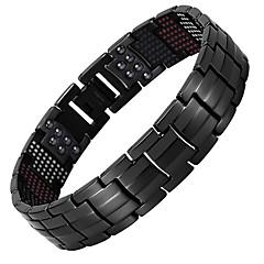 preiswerte Armbänder-Herrn Ketten- & Glieder-Armbänder Hologramarmband Magnetisches Armband - Armbänder Schmuck Gold / Schwarz / Silber Für Normal Alltag