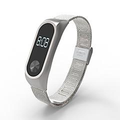 お買い得  腕時計ベルト-xiaomiのためのステンレス鋼の腕時計のストラップループ時計バンドxiaomiのためのmiバンド2の交換バンドxiaomiのmiバンド2-銀