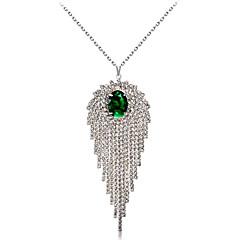 preiswerte Halsketten-Damen Kristall / Kubikzirkonia Anhängerketten - Krystall, Zirkon, versilbert Klassisch, Modisch Silber Modische Halsketten 1 Für Hochzeit, Party