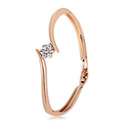 preiswerte Armbänder-Damen Kubikzirkonia Armreife - Roségold, Zirkon Blume Klassisch, Modisch Armbänder Gold Für Party Formal