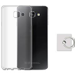 abordables Fundas / Carcasas para Galaxy Serie A7-Funda Para Samsung Soporte para Anillo Funda Trasera Color sólido Suave TPU para A7 (2017) A7(2016) A7