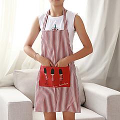 お買い得  キッチン清掃用品-高品質 1個 リネン/コットンのブレンド エプロン, 86*59