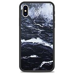 Недорогие Кейсы для iPhone 5-Кейс для Назначение Apple iPhone X iPhone 8 Plus С узором Кейс на заднюю панель Полосы / волосы Мрамор Твердый Акрил для iPhone X iPhone