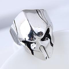 preiswerte Ringe-Herrn Bandring - Totenkopf Retro, Europäisch, Modisch Verstellbar Silber Für Alltag
