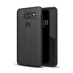 Недорогие Чехлы и кейсы для LG-Кейс для Назначение LG V30 Q6 Защита от удара Кейс на заднюю панель Сплошной цвет Мягкий ТПУ для LG V30+ LG V30 LG Q6 LG G6