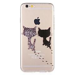 Недорогие Кейсы для iPhone 5-Кейс для Назначение Apple iPhone 8 / iPhone 7 С узором Кейс на заднюю панель Кот / Мультипликация Мягкий ТПУ для iPhone 8 Pluss / iPhone 8 / iPhone 7 Plus