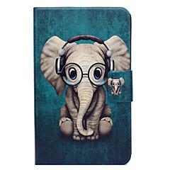 Недорогие Чехлы и кейсы для Galaxy Tab 3 Lite-Кейс для Назначение SSamsung Galaxy Tab 3 Lite Бумажник для карт со стендом Флип С узором Чехол Слон Твердый Кожа PU для Tab 3 Lite