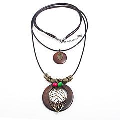 preiswerte Halsketten-Damen Lang Layered Ketten - Blattform Böhmische, Natur, Gothic Braun Modische Halsketten Schmuck 1 Für Party / Abend, Verabredung