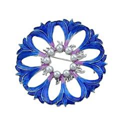 お買い得  ブローチ-女性用 フラワー 人造真珠 ブローチ  -  ベーシック / ファッション ブルー ブローチ 用途 日常 / デート