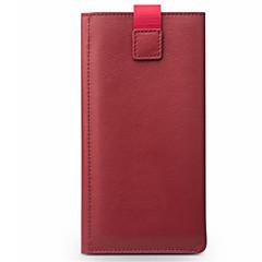 Недорогие Кейсы для iPhone-Кейс для Назначение Apple iPhone 6 iPhone 6 Plus Бумажник для карт Защита от удара Мешочек Сплошной цвет Твердый Настоящая кожа для