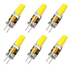 cheap LED Bulbs-BRELONG® 6pcs 3W 800 lm G4 LED Bi-pin Lights 1 leds Warm White White