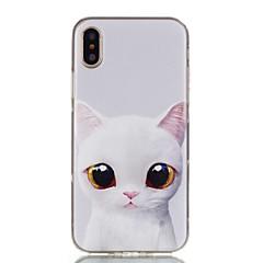 お買い得  iPhone 5S/SE ケース-ケース 用途 Apple iPhone X iPhone 8 パターン バックカバー 猫 ソフト TPU のために iPhone X iPhone 8 Plus iPhone 8 iPhone 7 Plus iPhone 7 iPhone 6s Plus iPhone 6s