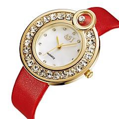お買い得  レディース腕時計-ASJ 女性用 クォーツ ファッションウォッチ カジュアルウォッチ 日本産 カジュアルウォッチ PU バンド ミニマリスト ファッション ブラック レッド