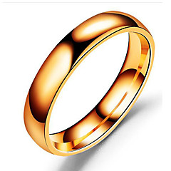 preiswerte Ringe-Herrn Bandring - Edelstahl Klassisch Schmuck Schwarz / Silber / Rotgold Für Hochzeit Geburtstag Alltag Maskerade Verlobungsfeier Abiball 6 / 7 / 8 / 9