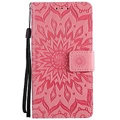 Недорогие Чехлы и кейсы для HTC-Кейс для Назначение HTC U11 Кошелек Флип Чехол Сплошной цвет Твердый Кожа PU для HTC U11