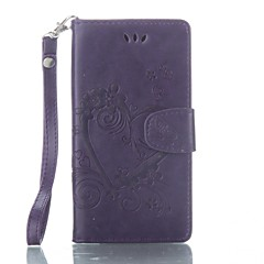 Недорогие Чехлы и кейсы для Sony-Кейс для Назначение Sony Xperia XA Бумажник для карт Кошелек со стендом Флип Рельефный Чехол Бабочка Твердый Кожа PU для Sony Xperia XA