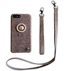 Недорогие Кейсы для iPhone 6-Кейс для Назначение Apple iPhone X iPhone 7 Plus С узором Кейс на заднюю панель Сплошной цвет Твердый текстильный для iPhone X iPhone 8