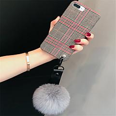 Недорогие Кейсы для iPhone X-Кейс для Назначение Apple iPhone X iPhone 7 Plus С узором Кейс на заднюю панель Полосы / волосы Мягкий текстильный для iPhone X iPhone 8