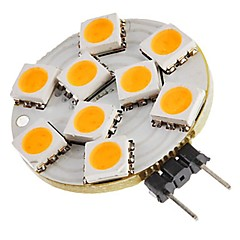 voordelige LED-lampen-SENCART 1pc 1.5W 270lm G4 2-pins LED-lampen T 9 LED-kralen SMD 5050 Decoratief Warm wit 12V