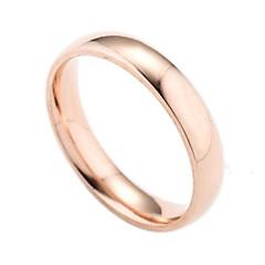 preiswerte Ringe-Herrn Bandring - versilbert, vergoldet Modisch 6 / 7 / 8 / 9 / 10 Gold / Silber / Rose Für Alltag