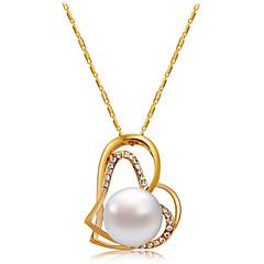 preiswerte Halsketten-Damen Kubikzirkonia Anhängerketten - Roségold, Künstliche Perle, Zirkon Herz Klassisch, Modisch Gold Modische Halsketten Schmuck Für Party, Formal