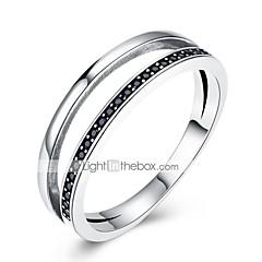 preiswerte Ringe-Damen Bandring - Zirkon, S925 Sterling Silber damas, Klassisch, Retro Schmuck Silber Für Alltag Arbeit 7 / 8