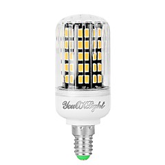 economico Lampadine LED-YouOKLight 1pc 7W 560 lm E12 LED a pannocchia 108 leds SMD 5733 Decorativo Bianco caldo 110-130V