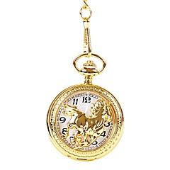preiswerte Armbanduhren für Paare-Herrn Paar Armbanduhren für den Alltag Taschenuhr Quartz Armbanduhren für den Alltag Cool Legierung Band Analog Retro Freizeit Gold - Gold