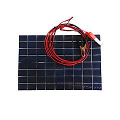 tanie Giętkie taśmy świetlne LED-zdm® 10w wyjście 12v 0,65a monokrystaliczny panel słoneczny bateria ognioodporna bateria (dc12-18v)
