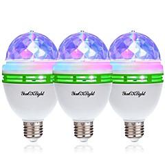 お買い得  LED 電球-YouOKLight 3本 3W - E26 / E27 LEDボール型電球 3 LEDビーズ ハイパワーLED 装飾用 RGB 85-265V