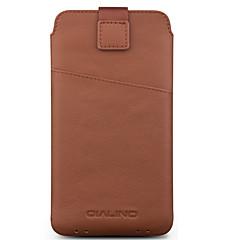 Недорогие Универсальные чехлы и сумочки-Кейс для Назначение SSamsung Galaxy S9 S8 Plus Бумажник для карт Защита от удара Мешочек Сплошной цвет Мягкий Настоящая кожа для C7
