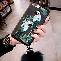 Недорогие Кейсы для iPhone-Кейс для Назначение Apple iPhone X iPhone 7 Plus С узором Кейс на заднюю панель 3D в мультяшном стиле Мягкий ТПУ для iPhone X iPhone 8