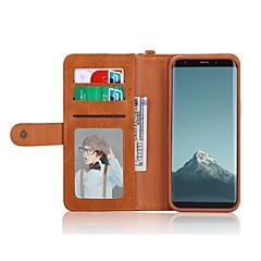 abordables Galaxy S6 Edge Carcasas / Fundas-Funda Para Samsung Galaxy S8 Plus / S8 Cartera / Soporte de Coche / Antigolpes Funda de Cuerpo Entero Color sólido Dura Cuero de PU para S8 Plus / S8 / S7 edge