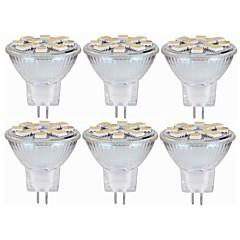 preiswerte LED-Birnen-SENCART 6pcs 5W 160lm MR11 LED Doppel-Pin Leuchten MR11 12 LED-Perlen SMD 5060 Dekorativ Warmes Weiß / Weiß 12-24V / RoHs