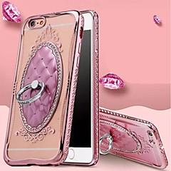お買い得  iPhone 5S/SE ケース-ケース 用途 Apple iPhone 8 Plus iPhone 6 Plus iPhone 7 耐衝撃 バンカーリング バックカバー 純色 ソフト TPU のために iPhone 8 Plus iPhone 8 iPhone SE/5s