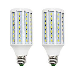 preiswerte LED-Birnen-BRELONG® 2pcs 18W 1200lm E14 E26 / E27 B22 LED Mais-Birnen 84 LED-Perlen SMD 5730 Warmes Weiß Weiß 220-240V